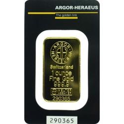 Zlatý slitek Argor Heraeus 1 unce