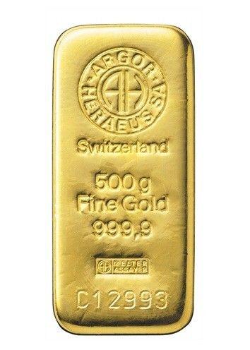 Zlatý slitek Argor Heraeus  500 g